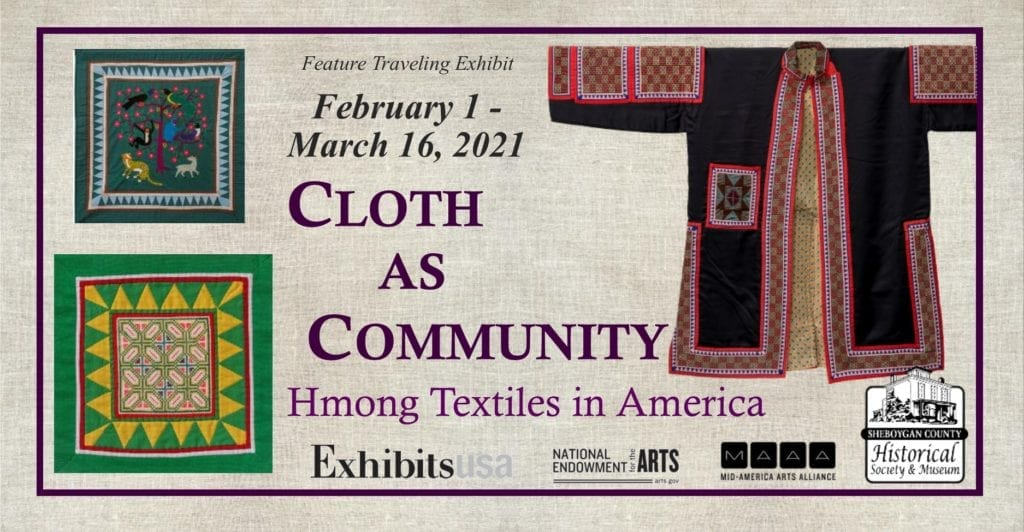 Cloth as Community exhibit flyer