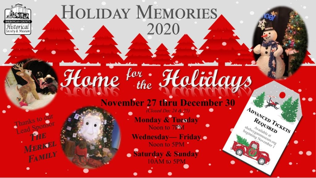 Flyer detailing hours and ticket options for Holiday Memories