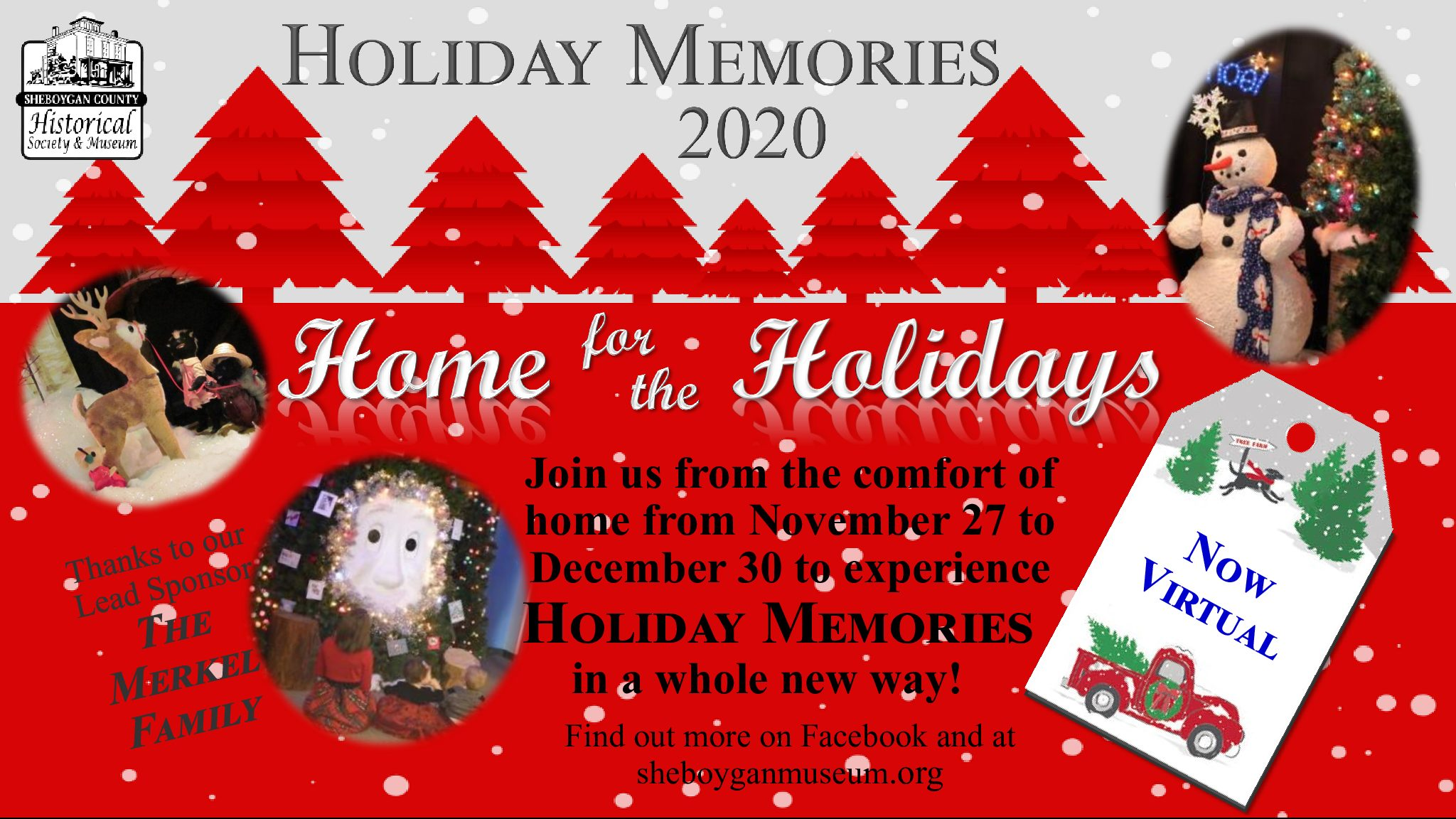 NOW VIRTUAL!! Holiday Memories 2020: Home for the Holidays
